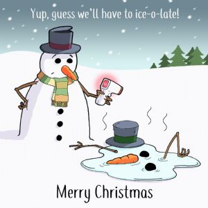 CV8  Funny COVID Christmas Card Ice-O-Late!